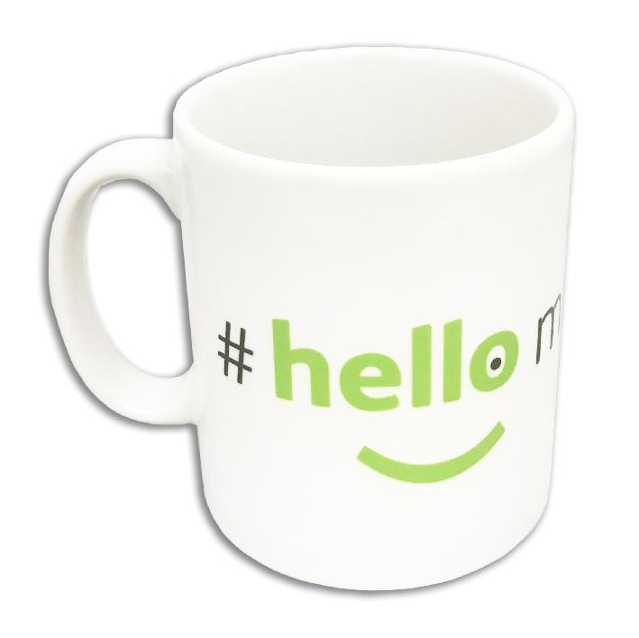 branded hellomynameis mug
