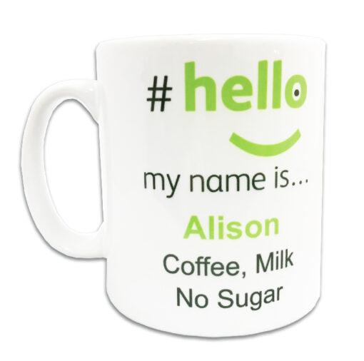 hello my name is mug with name