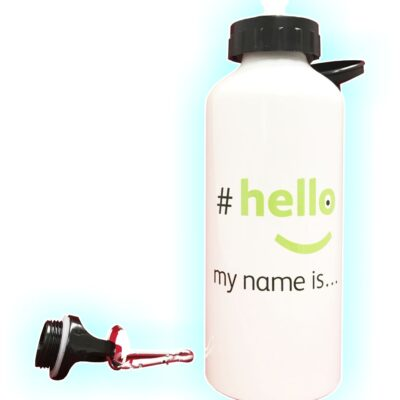 Water bottle hello my name is