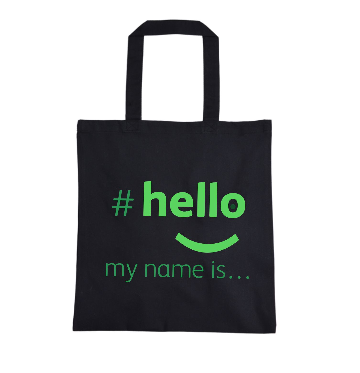 shopping bag hello my name is