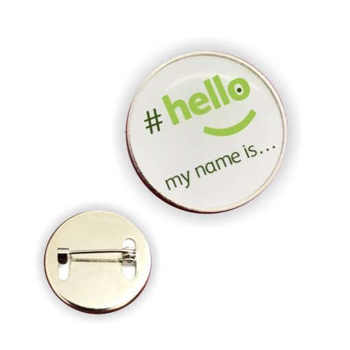 hellomynameis lapel badge
