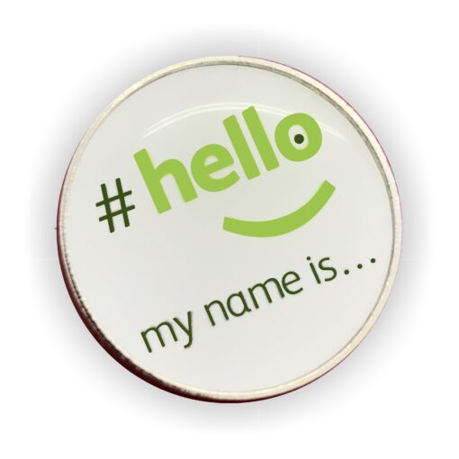 hello my name is lapel badge