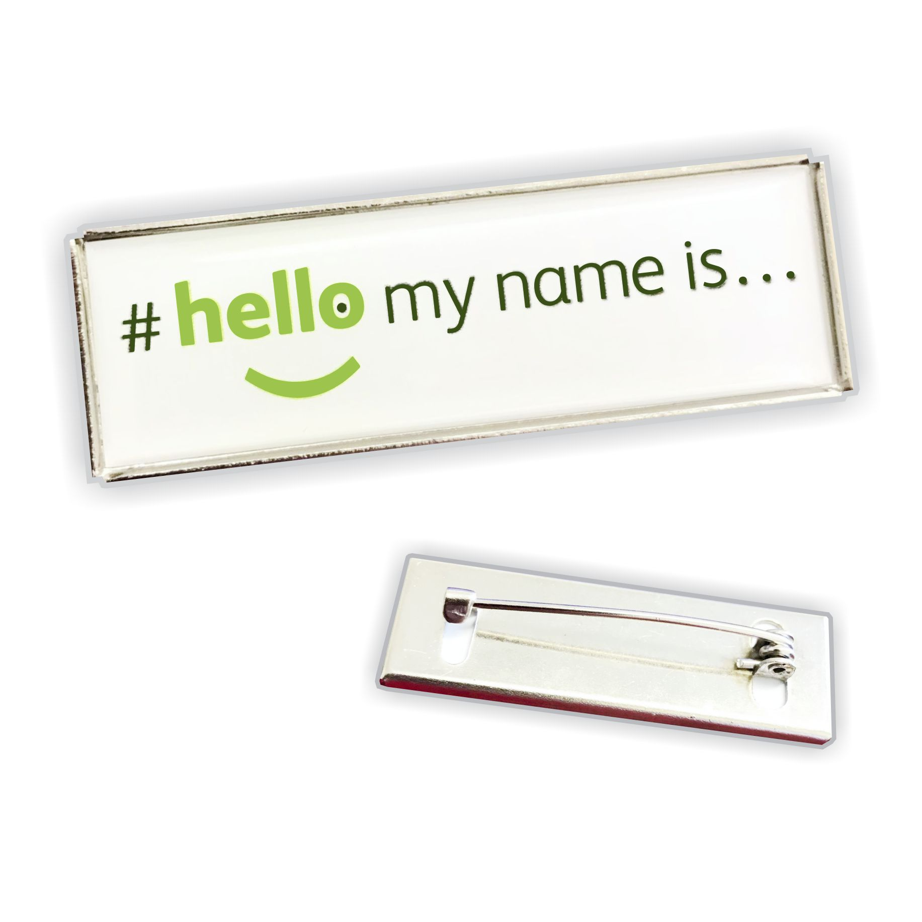 hello my name is lapel pin badge
