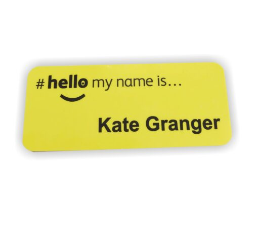 hello my name is badge nhs yellow