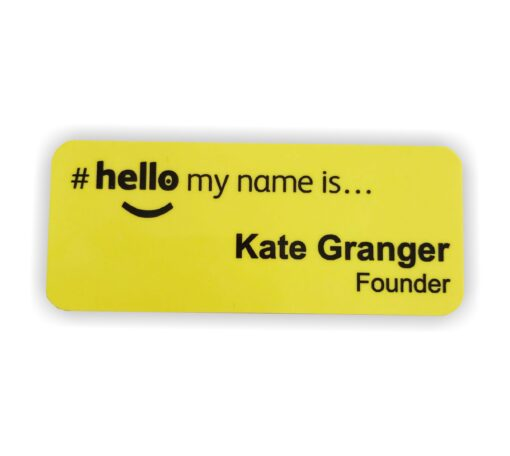 yellow nhs hellomynameis badges