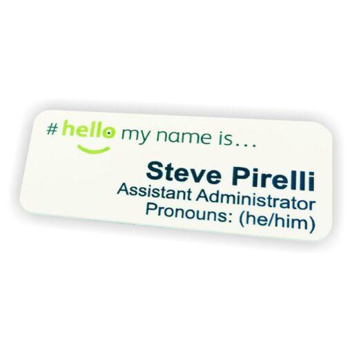 NHS Pronoun badges