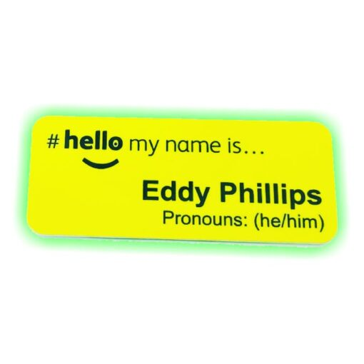 Yellow Pronoun NHS Badge